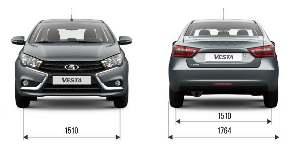 Размеры Lada Vesta